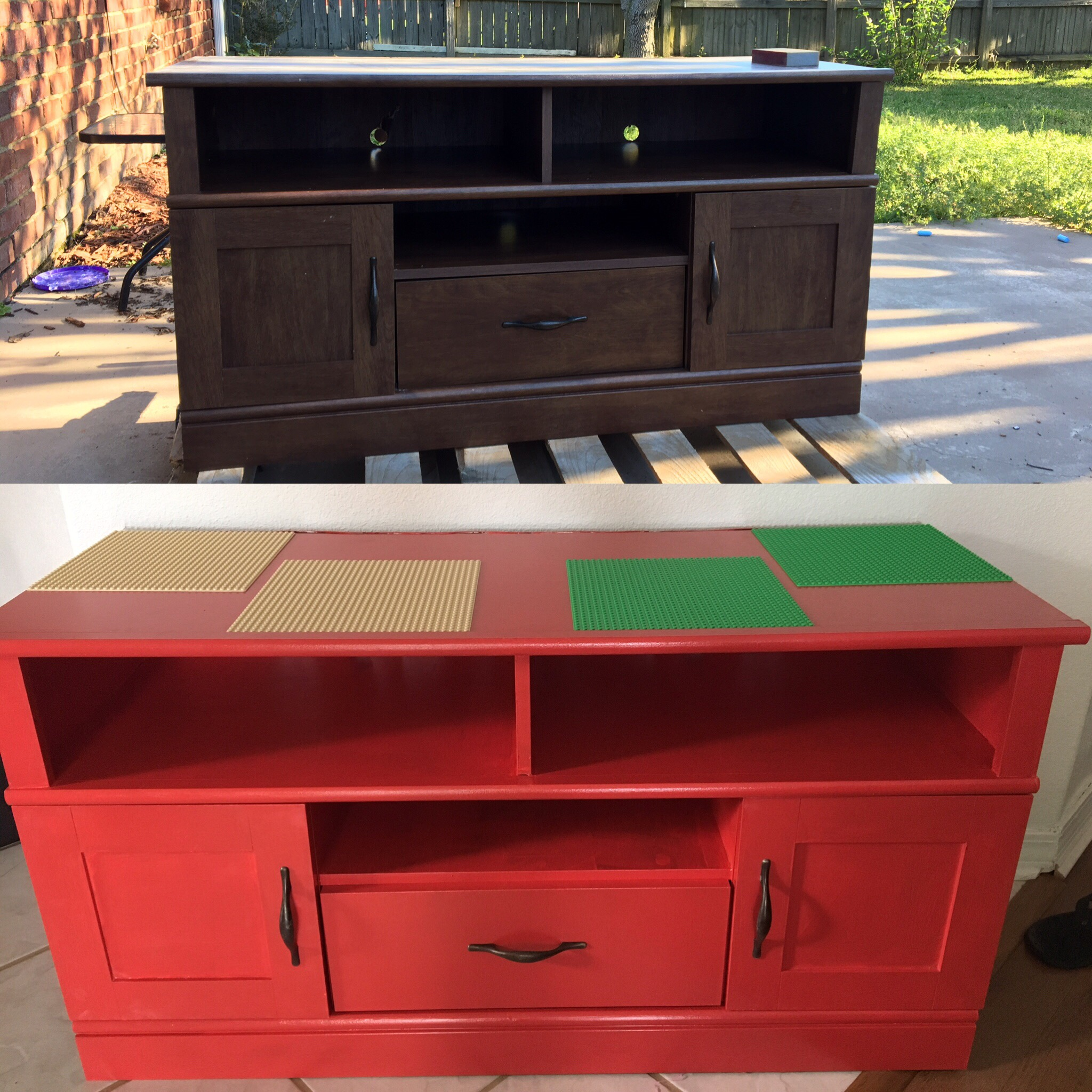 My first diy lego table klutzy homemaker for Homemakers furniture project